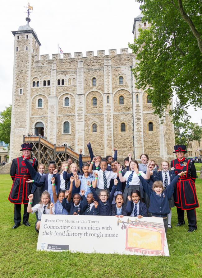 Budding musicians from Cranmer Primary School visited London's famous fortress. Picture: Richard Lea-Hair