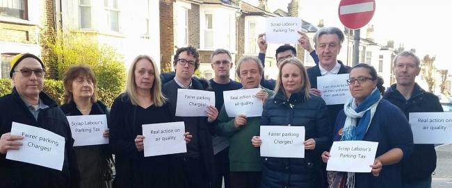 Merton Liberal Democrats campaigning against the charges