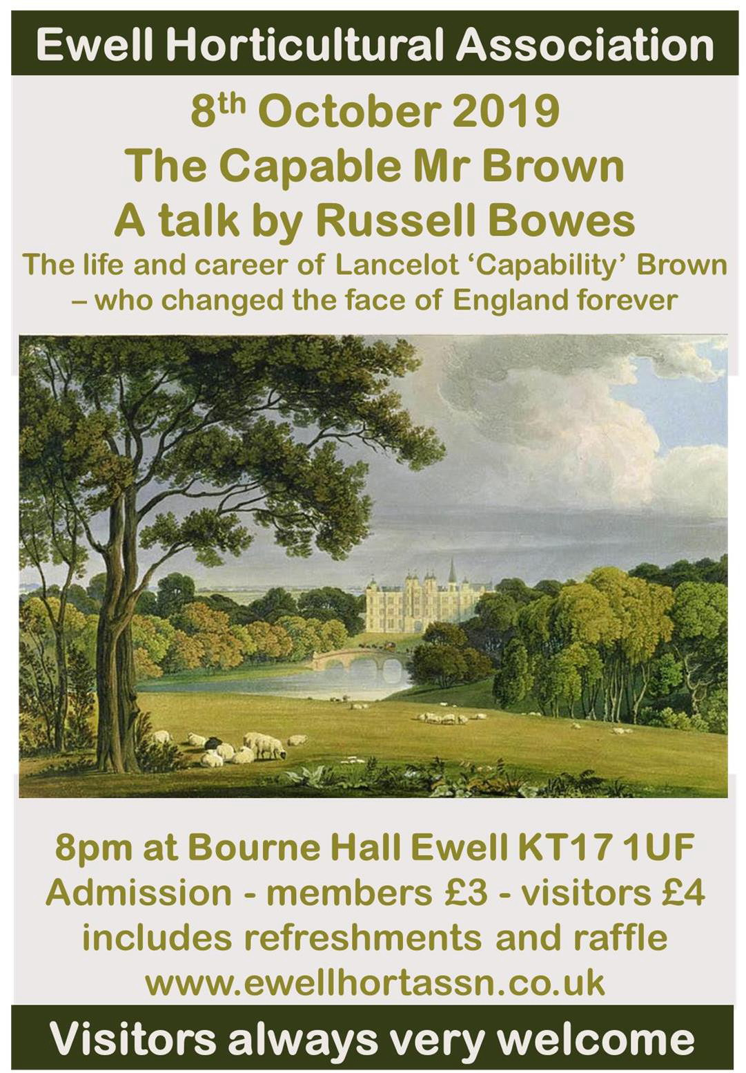 A Talk by Russell Bowes entitled 'The Capable Mr Brown'