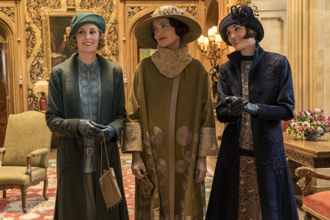 Undated film still handout from Downton Abbey. Pictured: Laura Carmichael as Edith Crawley, Elizabeth McGovern as Cora Crawley and Michelle Dockery as Lady Mary Crawley. See PA Feature SHOWBIZ Download Reviews. Picture credit should read: PA Photo/Focus F