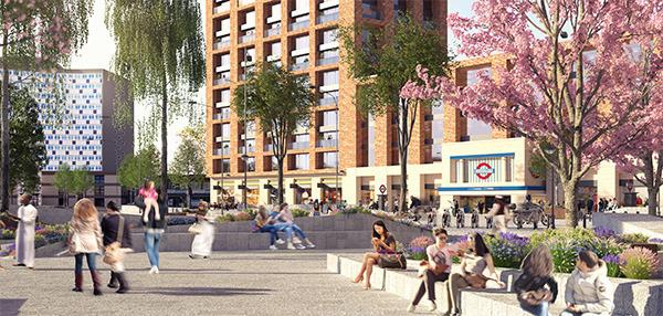 Morden town centre regeneration CGI. Credit: Merton Council.