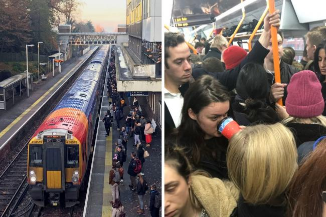 SWR strikes have begun. Picture: Charlotte Burnell/Twitter/PA Wire