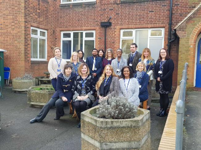 The team at the Access Centre at Raynes Park High School