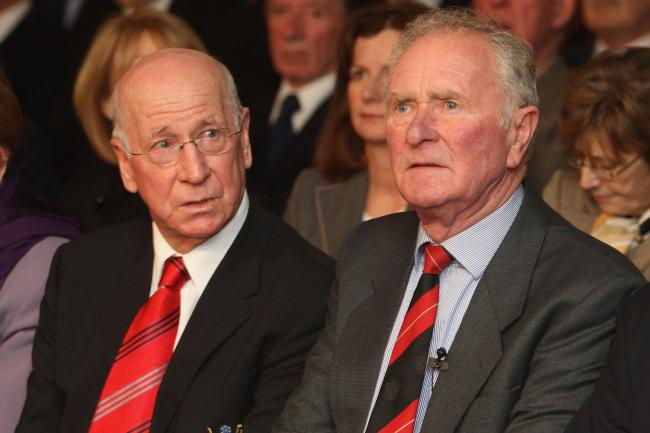 Harry Gregg, right, has died aged 87