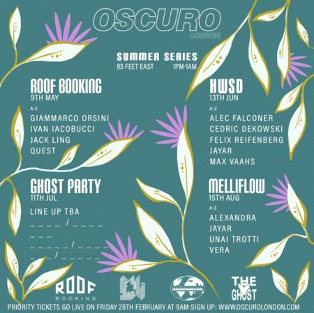 OSCURO Summer Series 001 x Roof Booking with Quest, Giammarco Orsini and Ivan