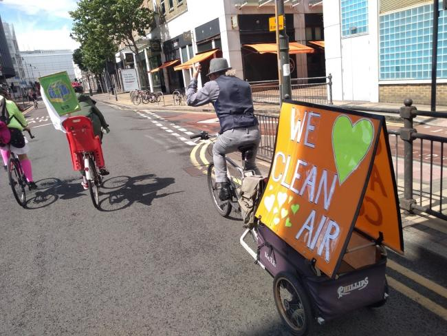 Extinction Rebellion cycle around Merton