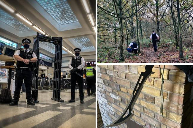 Metropolitan Police and British Transport Police: Operation Sceptre in London