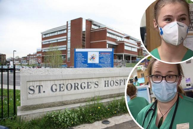 Staff at St Georges Hospital speak about how they are coping with Covid-19 - BBC