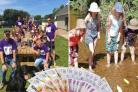 Grants included a family play area for Helston Rugby Club (left) and this year's CAST-Off project