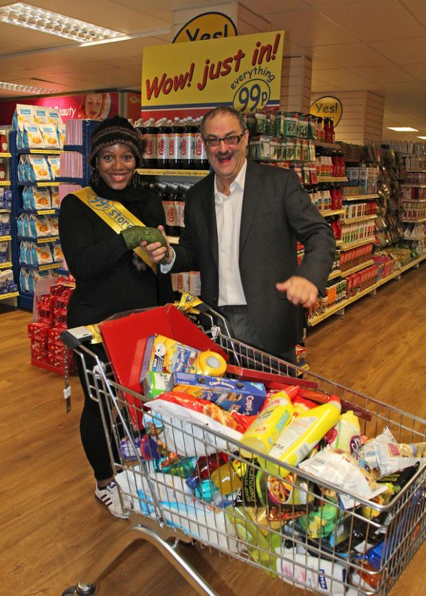 Sandra Pollard with her winning trolley