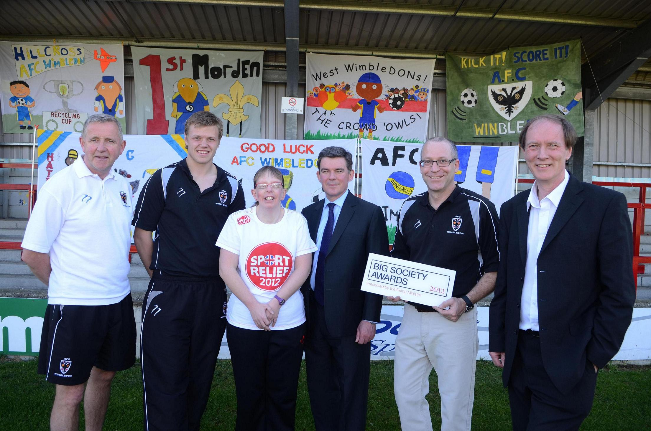 PM salutes AFC Wimbledon for 'uniting community'
