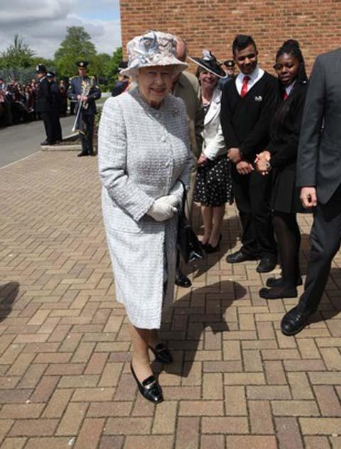 The Queen arriving at St Mark's Academy