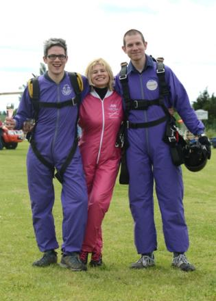 Anne Waldron, from Wimbledon took part in the jump