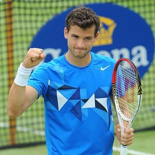 Grigor Dimitrov received a standing ovation at Queen's after beating Kevin Anderson
