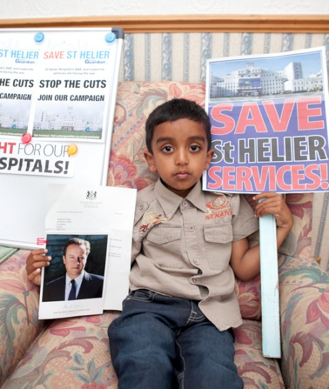 Five-year-old asks PM to save St Helier services