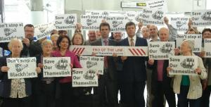 SUTT: MPs join commuters for protest at plans to cut key rail service