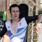 Wimbledon Guardian: WHAT A HERO: Bradley Wiggins on his throne at Hampton Court Palace after winning his gold medal