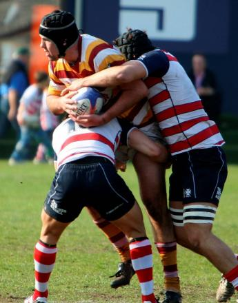 The Rosslyn Park defence in action last season