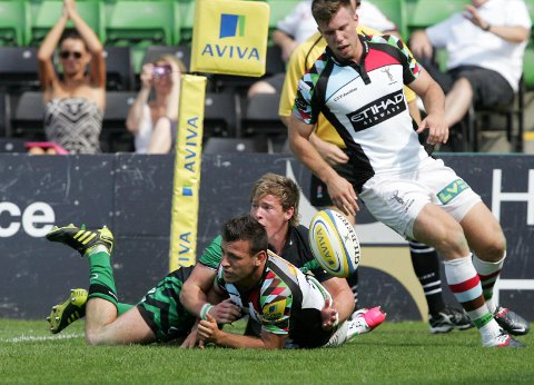 "Staying put: Quins scrum half Danny Care, pictured above during Saturday's 45-11 friendly double header win over Connacht,  signed a new three-year contract extension at the Stoop on Tuesday. The 25-year-old said: ""There is no other club I want to pla"