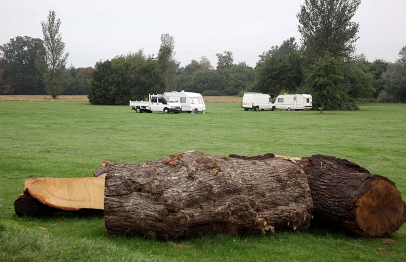 Caravans pitch up at Cannon Hill Common