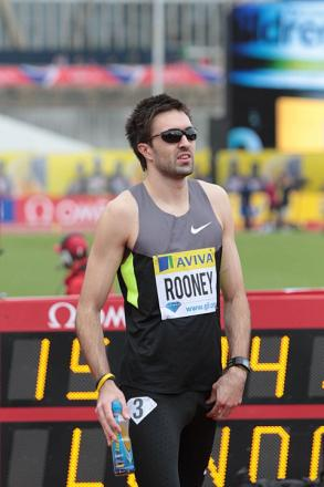 Running man: Rooney wants to finish the season with a sub-45 seconds 400m, but he only has one race left in the season