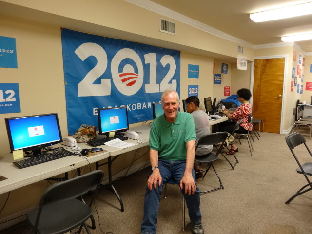 Councillor Peter Walker urged US voters in Nevada to re-elect President Barack Obama