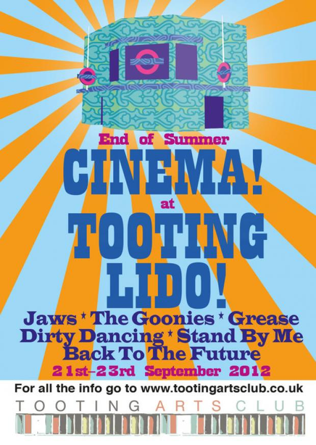 Selection of films to be screened at Tooting Lido