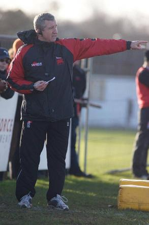Confident: London Welsh head coach Lyn Jones directs matters at Old Deer Park last season Picture: Dave Jackson