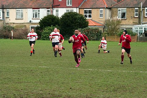 Score ruled out: Garvin Toussaint bagged a try in the friendly clash against Camberley but it was ruled out