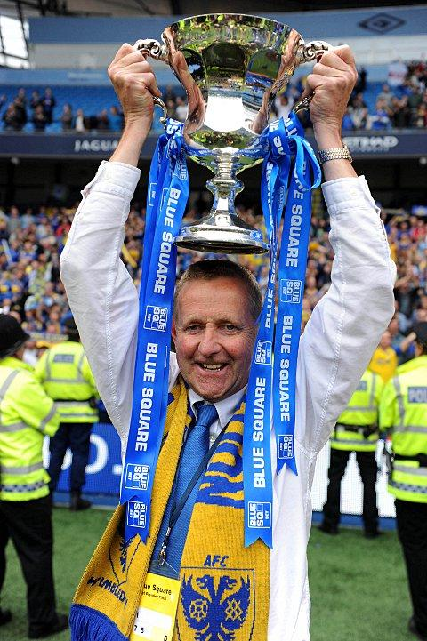 Happy days: Terry Brown enjoys winning promotion to the Football League   SP58231