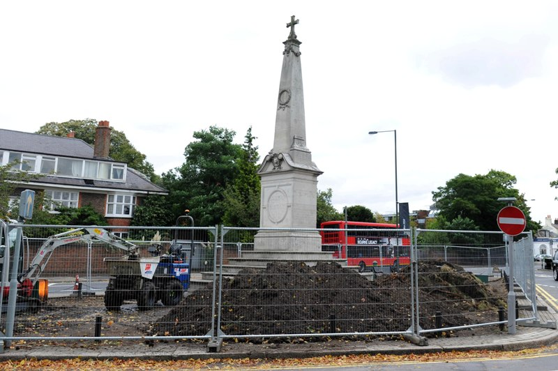 Work to bulldoze memorial garden halted after plans spark outrage