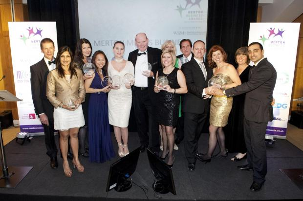 The winners of the 2012 Merton Business Awards