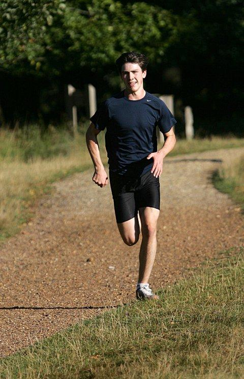 Romping home: Alex Lloyd-Jones was in inspired form in winning the Richmond Park parkrun on Saturday     BT70666