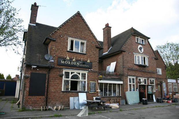 The Morden Tavern was closed two years ago by Reef Estates, who have won permission to redevelop it