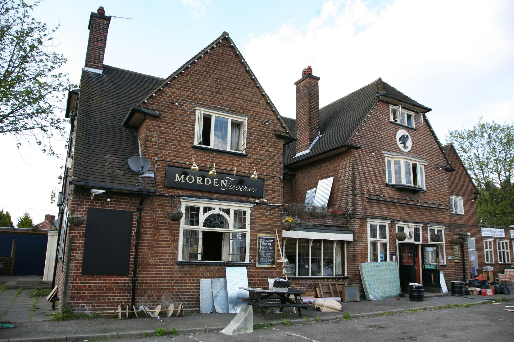 The Morden Tavern was closed two years ago by Reef Estates, who have won permission to redevelo