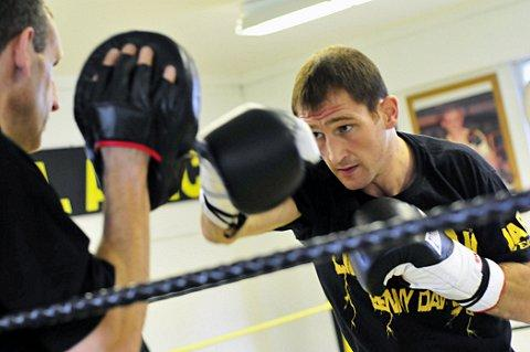Punching for glory: Daws in training for Euro fight