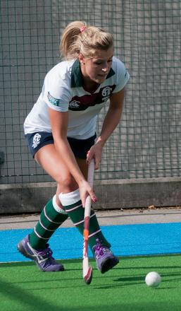 Winning start: Team GB star Georgie Twigg made her first appearance for Surbiton on Saturday