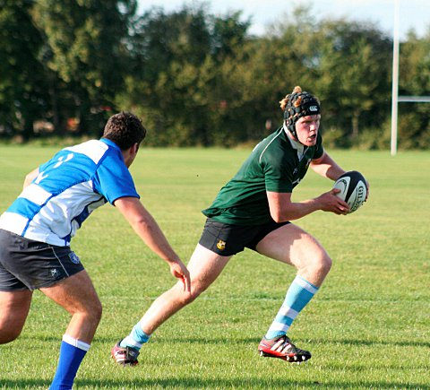 Outstanding: Second row Ollie Dodwell charges forward in the Warlingham cause