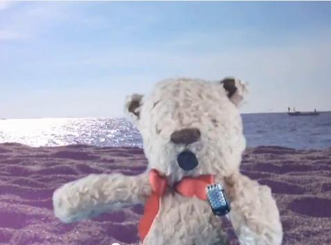 Singing teddy film could launch career of film-maker and musician