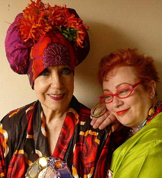 Poet Molly Parkin and singer Gill Manly and