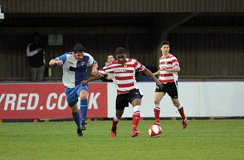 Goal machine: Ks striker Andre McCollin was on target again on Tuesday