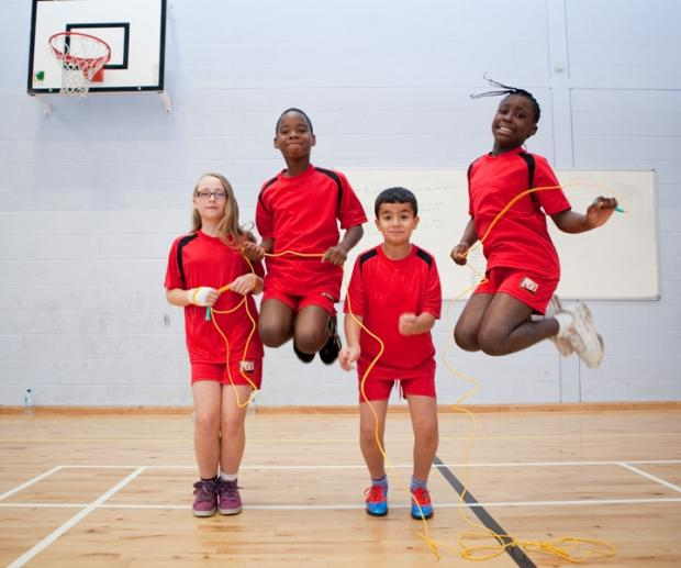 Merton schools take on skipping challenge