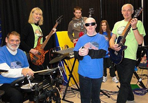 Firestone Rock Band visited The Children's Trust in Tadworth