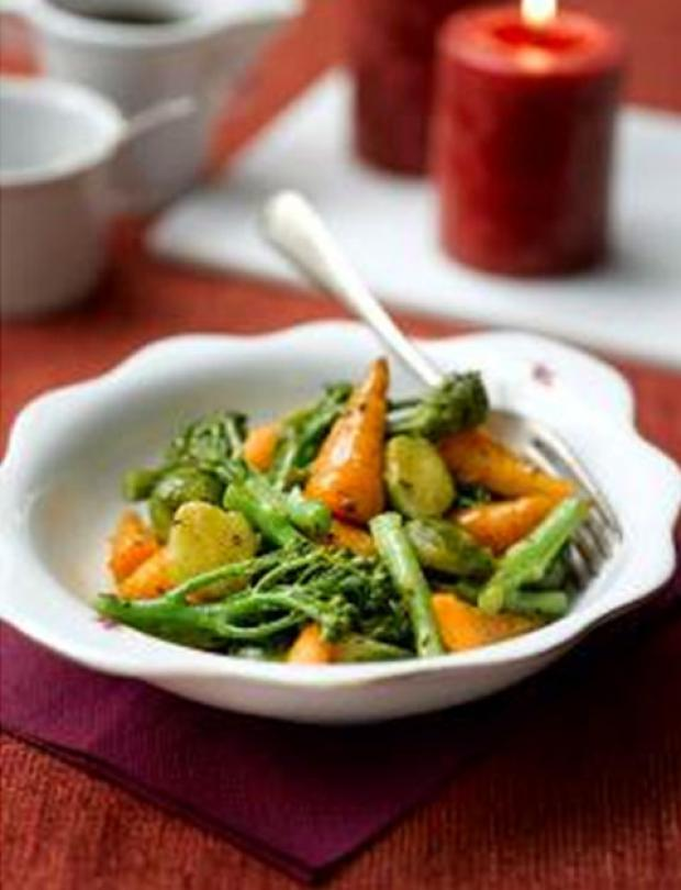 Tenderstem, Chantenay Carrot and Brussel Saute