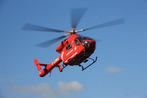 London Air Ambulance, were called to Gorringe Park Avenue in Mitcham after a boy was knocked down by a van