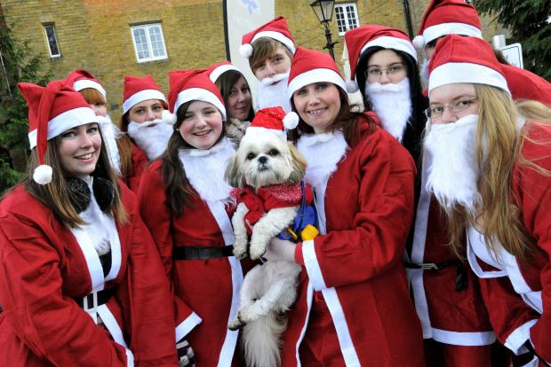 Last year's Santa dash in Nonsuch Park, Cheam, included students from Bishopsford Sixth Form, Morden
