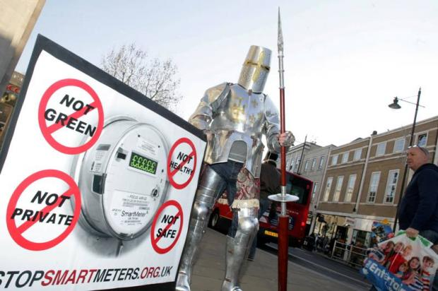 Knight leads protests against 'harmful' home smart meters