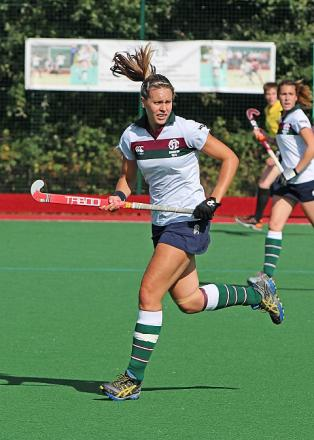 On the up: Surbiton's former Team GB satar CHloe Strong