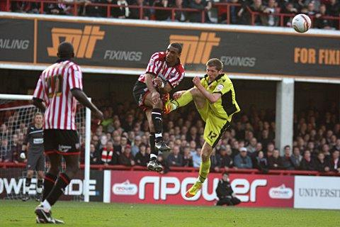 Wimbledon Guardian: Waiting game: Brentford's Leon Legge in action against Sheffield United last season