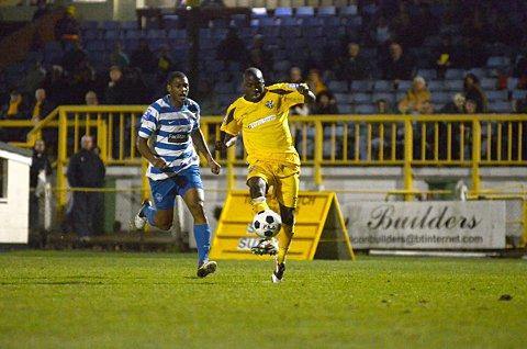 On target: Marvin Williams was on target for Sutton in the 2-0 win over Bromley     SP70822